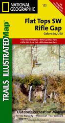 Flat Tops Southwest and Rifle Gap, Colorado by National Geographic Maps