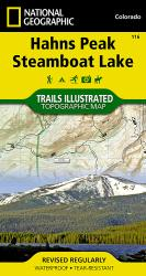 Hahns Peak and Steamboat Lake, Map 116 by National Geographic Maps