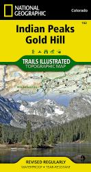 Indian Peaks and Gold Hill, Map 102 by National Geographic Maps