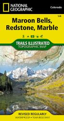 Maroon Bells, Redstone and Marble, Colorado, Map 128 by National Geographic Maps