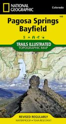 Pagosa Springs and Bayfield, Map 145 by National Geographic Maps