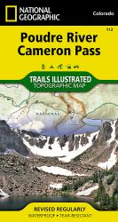 Poudre River and Cameron Pass, Colorado, Map 112 by National Geographic Maps