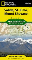 Salida, St. Elmo and Mount Shavano, Colorado, Map 130 by National Geographic Maps
