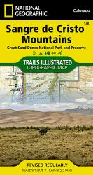 Sangre De Cristo Mountains and Great Sand Dunes National Park, Map 138 by National Geographic Maps