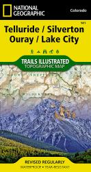 Telluride, Silverton, Ouray and Lake City, Colorado, Map 141 by National Geographic Maps
