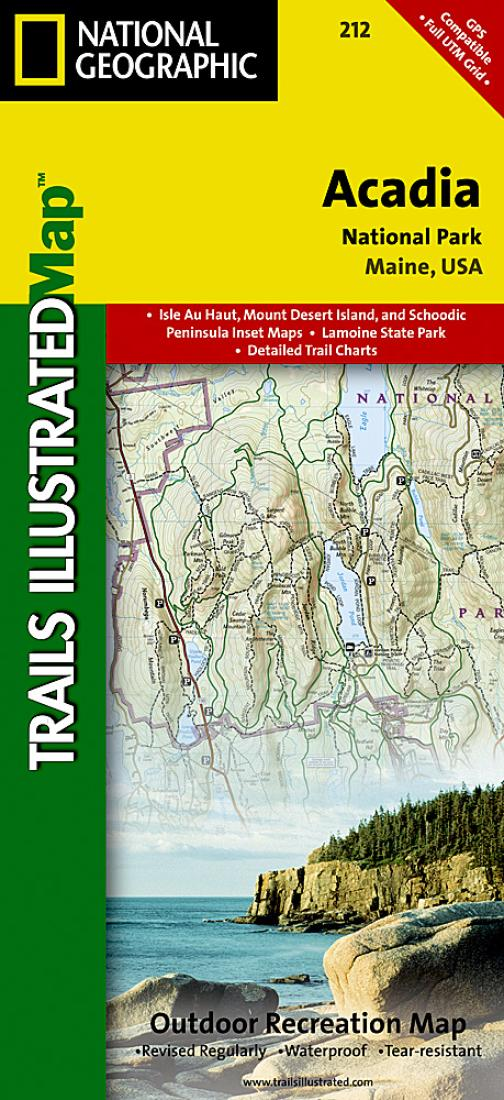 Acadia National Park Maine Map 212 by National Geographic Maps