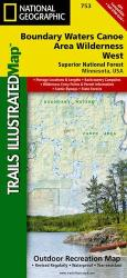 Boundary Waters Canoe Area Wilderness, West, MN, Map 753 by National Geographic Maps