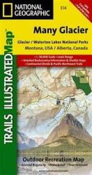 Glacier National Park, Many Glacier, Map 314 by National Geographic Maps