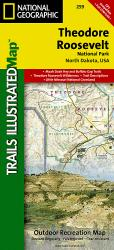 Theodore Roosevelt National Park, Maah Daah Hey Trail, Map 259 by National Geographic Maps