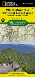 Franconia Notch, Lincon, Western White Mountains Nat'l Forest, Map 740 by National Geographic Maps