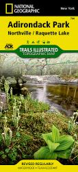 Adirondack Park, Northville and Raquette Lake, Map 744 by National Geographic Maps