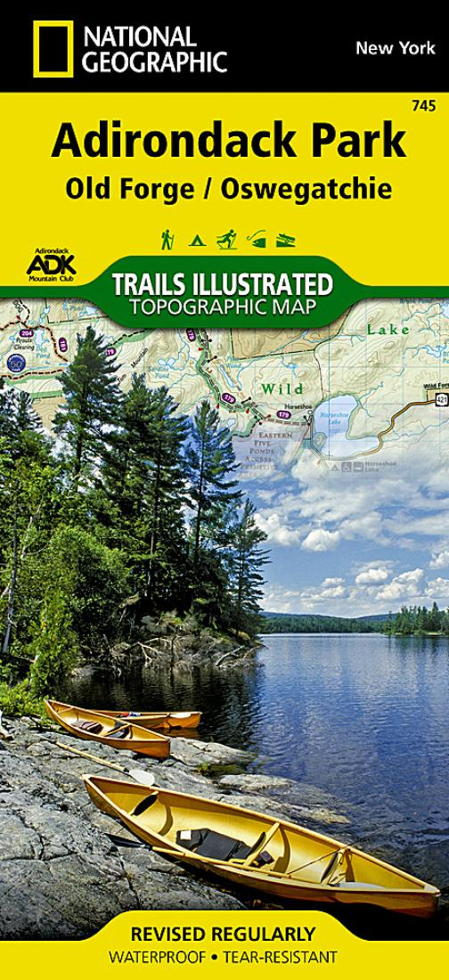 Adirondack Park Old Forge And Oswegatchie Map 745 By