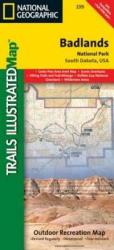 Badlands National Park, South Dakota, Map 239 by National Geographic Maps