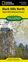 Black Hills National Forest, North, SD, Map 751 by National Geographic Maps