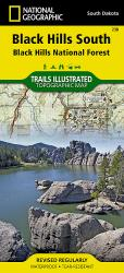 Black Hills National Forest, South, SD, Map 238 by National Geographic Maps