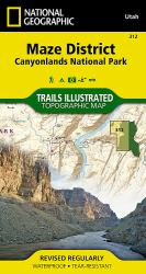 Canyonlands National Park, Maze District, Map 312 by National Geographic Maps