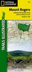 Mount Rogers National Recreation Area, Map 786 by National Geographic Maps