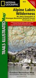 Alpine Lakes Wilderness, Washington, Map 825 by National Geographic Maps