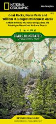 Goat Rocks and Norse Peak Wilderness Area, Map 823 by National Geographic Maps