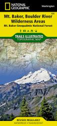 Mount Baker and Boulder River Wilderness Areas, Map 826 by National Geographic Maps