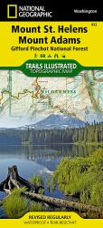 Mount St. Helens and Mount Adams, Map 822 by National Geographic Maps