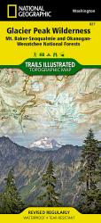 Glacier Peak Wilderness, Map 827 by National Geographic Maps