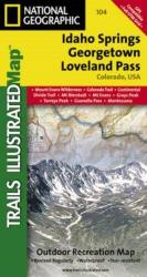 Idaho Springs, Georgetown and Loveland Pass, Colorado, Map 104 by National Geographic Maps