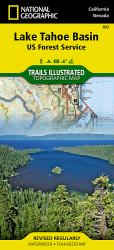 Lake Tahoe Basin, Map 803 by National Geographic Maps