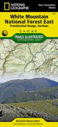 White Mountains National Forest, Presidential Range and Gorham, Map 741 by National Geographic Maps