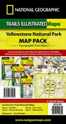 Yellowstone National Park, Sectional Map Pack Bundle by National Geographic Maps