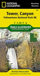 Yellowstone Northeast, Tower and Canyon by National Geographic Maps