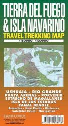 Tierra del Fuego and Isla Navarino Trekking Map by Zagier y Urruty