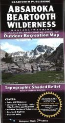 Absaroka-Beartooth Wilderness trail map