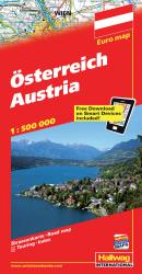 Austria with Distoguide by Hallwag