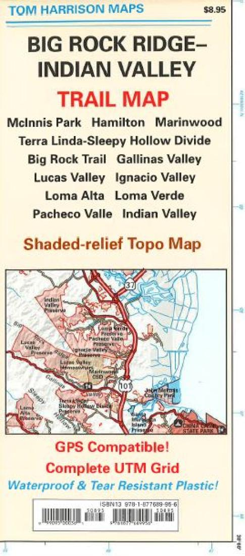 Pacheco California Map.Big Rock Ridge And Indian Valley California Trail Map By Tom