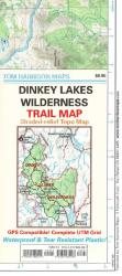 Dinkey Lakes Wilderness, California Trail Map by Tom Harrison Maps