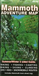 Mammoth Lakes, California Adventure Map by Sierra Map Company