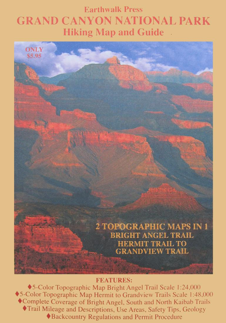 Grand Canyon National Park, Arizona, Hiking Map and Guide by ...