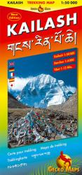 Kailash Trekking Map by Gecko Maps