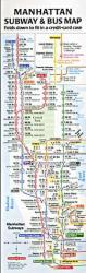 Compact Manhattan Subway and Bus Map by Tauranac Press