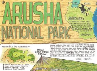 Arusha National Park and Mount Meru by GT Maps