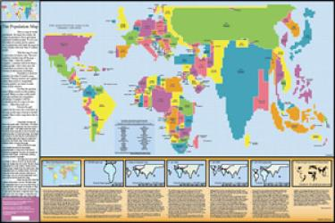 World, Population Map by ODT, Inc.