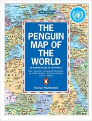 World, Penguin Map of the, with Flags by Penguin group