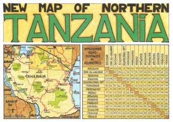 New Map of Northern Tanzania by GT Maps