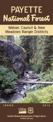 Payette National Forest - Weiser, Council and New Meadows Ranger Districts Map - Waterproof by United States Forest Service