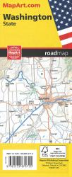 Washington State Road Map by Canadian Cartographics Corporation