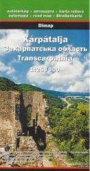 Transcarpathia Road Map by Cartographia