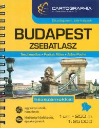 Budapest, Hungary, Pocket Atlas by Cartographia