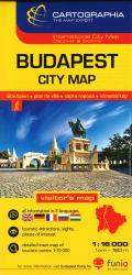 Budapest, Hungary, City Center by Cartographia