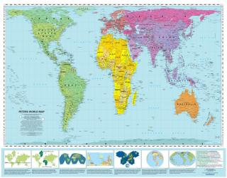 World, Peters Projection, laminated by ODT, Inc.